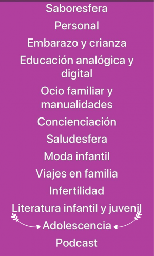 Listado de categorías  Premios Madresfera 2019